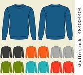 set of colored sweatshirts...   Shutterstock .eps vector #484004404