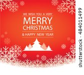 merry christmas and happy new... | Shutterstock .eps vector #484011499
