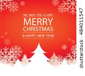 merry christmas and happy new... | Shutterstock .eps vector #484011547