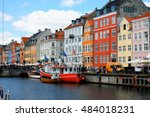 nyhavn district is one of the... | Shutterstock . vector #484018231
