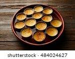 custard creme caramel flan... | Shutterstock . vector #484024627