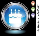 birthday cake web button... | Shutterstock .eps vector #48403642