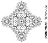 black white ethnic pattern.... | Shutterstock .eps vector #484040851