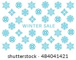 winter sale card with snow... | Shutterstock .eps vector #484041421
