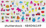 set  patch badges. hand drawn... | Shutterstock .eps vector #484046149