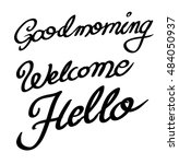 calligraphic goodmorning ... | Shutterstock . vector #484050937