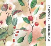 seamless watercolor pattern of... | Shutterstock . vector #484052527