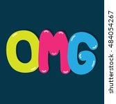 omg  comic vector design.    Shutterstock .eps vector #484054267