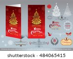 christmas decoration collection ... | Shutterstock .eps vector #484065415