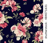 seamless floral pattern with... | Shutterstock .eps vector #484071631