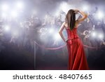 famous woman posing in front of ... | Shutterstock . vector #48407665