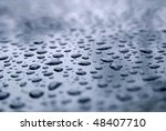 water droplets on a freshly... | Shutterstock . vector #48407710