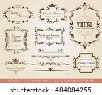 collection of different vintage ... | Shutterstock .eps vector #484084255
