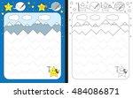 preschool worksheet for... | Shutterstock .eps vector #484086871