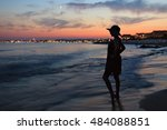 sea after sunset with twilight | Shutterstock . vector #484088851