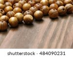 Wooden Beads Close Up On A...
