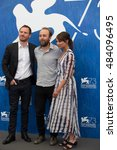 Small photo of Alicia Vikander, Michael Fassbender, Derek Cianfrance at the photocall for The Light Between Oceans at the 2016 Venice Film Festival. September 1, 2016 Venice, Italy