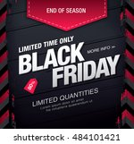 black friday sale banner | Shutterstock .eps vector #484101421