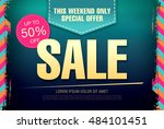 sale template banner | Shutterstock .eps vector #484101451