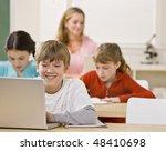 student using laptop in... | Shutterstock . vector #48410698
