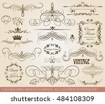 set of retro ornaments page... | Shutterstock .eps vector #484108309