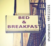 Bed And Breakfast Hotel Sign....