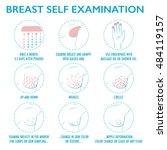 breast self exam instruction.... | Shutterstock .eps vector #484119157