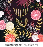 retro floral pattern background.... | Shutterstock .eps vector #48412474