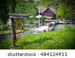 beautiful village of rastoke... | Shutterstock . vector #484124911