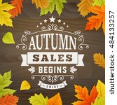 business background text autumn ... | Shutterstock .eps vector #484133257