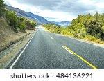 road along lake wakatipu ... | Shutterstock . vector #484136221