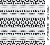 hand drawn geometric seamless... | Shutterstock .eps vector #484140034