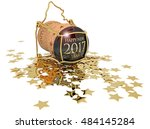 3d illustration of new year's... | Shutterstock . vector #484145284