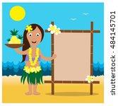 Hawaiian Cards With Hula Prett...