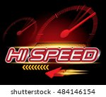 hi speed concept vector | Shutterstock .eps vector #484146154