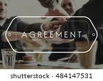 agreement alliance cooperation... | Shutterstock . vector #484147531