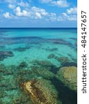 view of rocks and corals under... | Shutterstock . vector #484147657