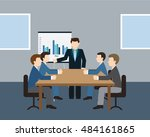 business meeting and... | Shutterstock .eps vector #484161865