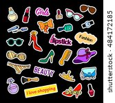 fashion patch badges. fashion... | Shutterstock .eps vector #484172185
