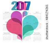 abstract calendar 2017 with... | Shutterstock .eps vector #484174261