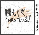 vector hand drawn lettering... | Shutterstock .eps vector #484179535