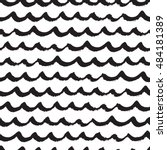 seamless pattern with black... | Shutterstock .eps vector #484181389
