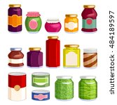 preserved food in jars and cans ...