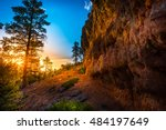 red canyon at sunset near bryce ... | Shutterstock . vector #484197649