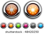 sun realistic buttons. vector...   Shutterstock .eps vector #48420250