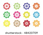 illustrated retro abstract... | Shutterstock .eps vector #48420709