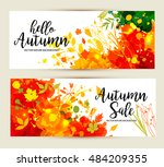 calligraphic text sale on... | Shutterstock .eps vector #484209355