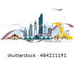 vector building landmark of... | Shutterstock .eps vector #484211191