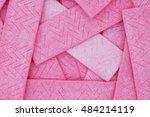pink bubble gum background that ... | Shutterstock . vector #484214119