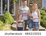 a portrait of happy family in... | Shutterstock . vector #484215031